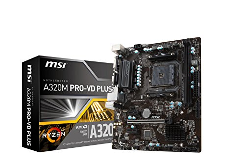 MSI A320M PRO-VD PLUS Micro ATX AM4