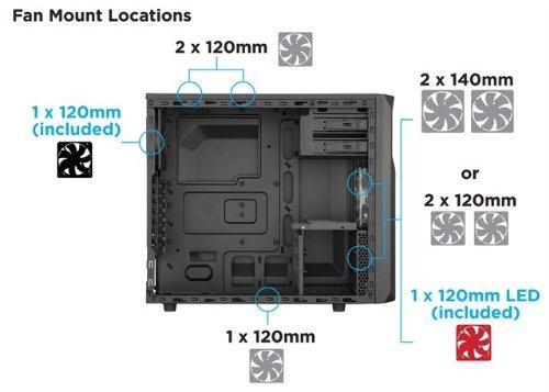 Corsair Carbide Series SPEC-02 ATX Mid Tower (Preto / Vermelho)