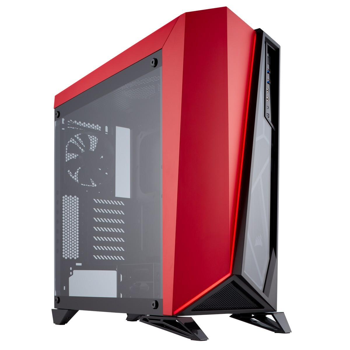 Corsair Carbide SPEC-OMEGA ATX Mid Tower (Preto / Vermelho)