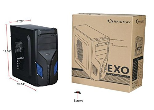 Raidmax EXO ATX Mid Tower (Preto / Azul)