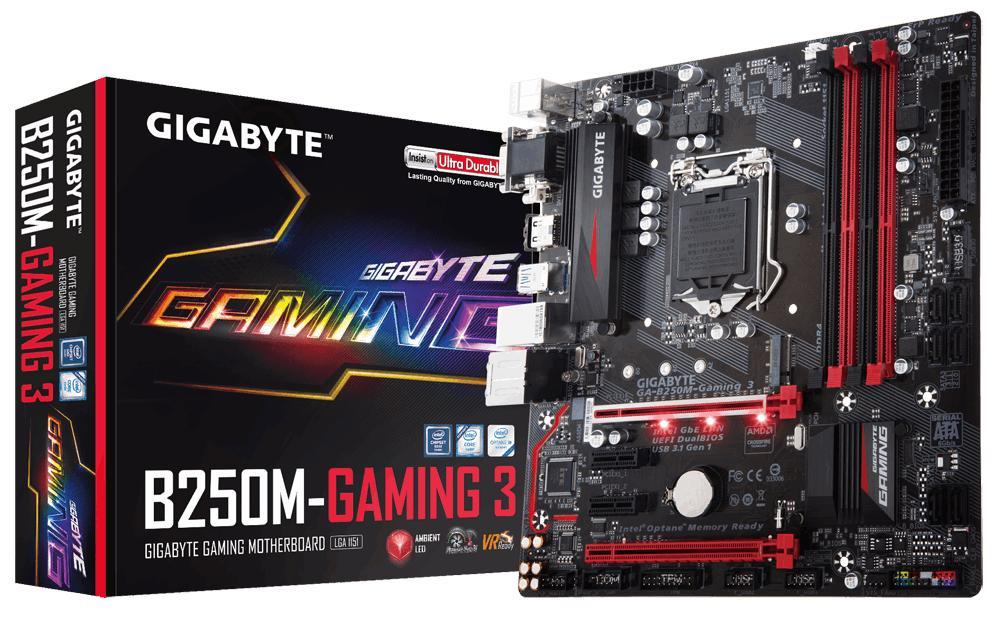 Gigabyte GA-B250M-GAMING 3 Micro ATX LGA 1151