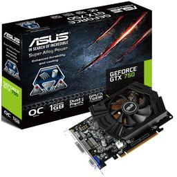 Asus GeForce GTX 750 1GB GeForce 700 Series