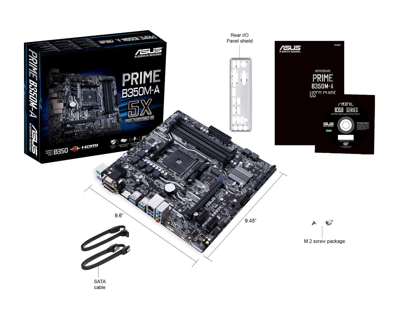 Asus PRIME B350M-A/CSM Micro ATX AM4
