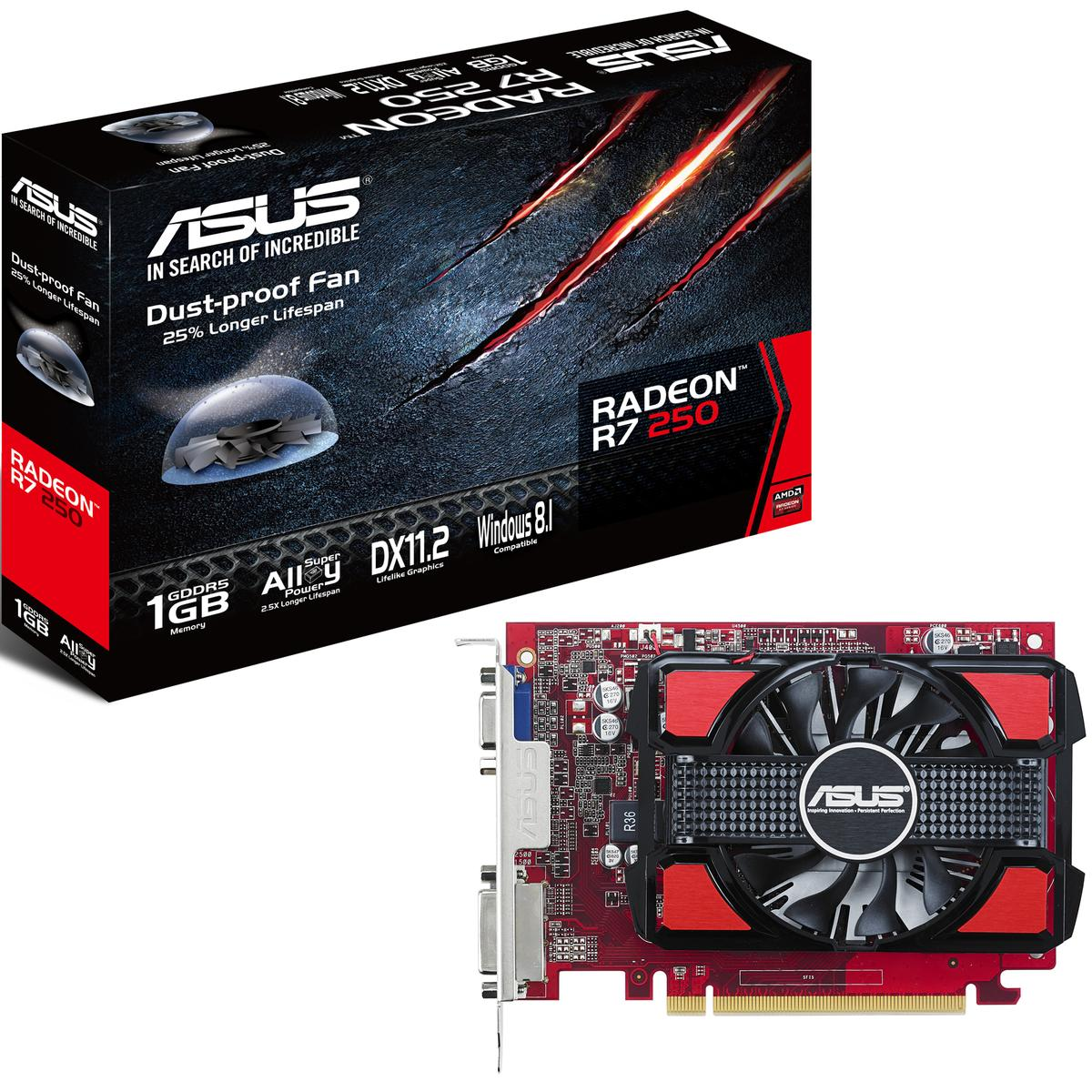 Asus Radeon R7 250 1GB Radeon R7 200 Series