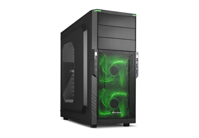 Sharkoon T3-W ATX Mid Tower (Preto / Azul)