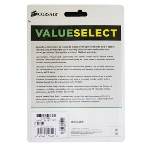 Corsair ValueSelect 8GB (1x8GB) DDR3-1333