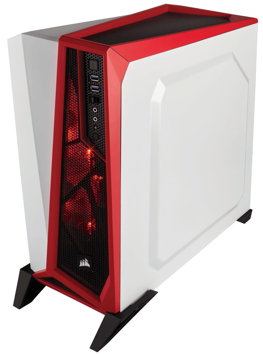 Corsair SPEC-ALPHA Mid-Tower ATX Mid Tower (Branco / Vermelho)