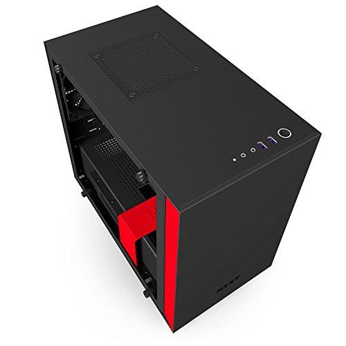 NZXT H200i ATX Mini ITX Mini ITX Tower (Preto / Vermelho)