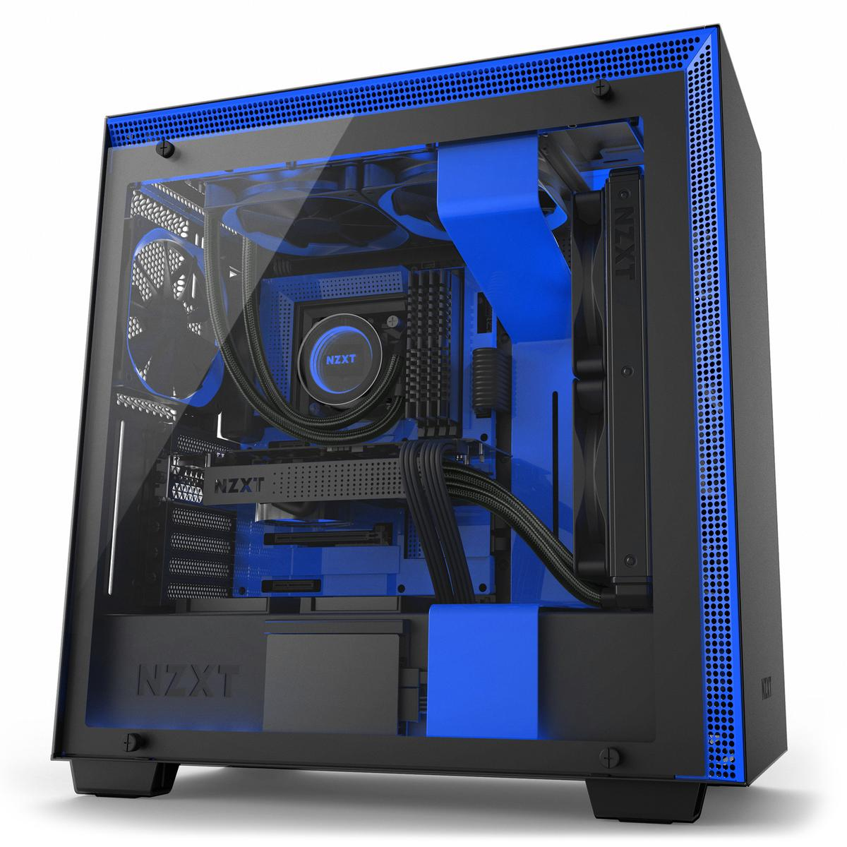 NZXT H700i ATX Mid Tower ATX Mid Tower (Preto / Azul)