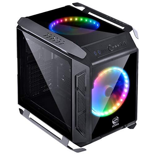PCYes Alpha MicroATX Cube Case (Preto / Cinza)