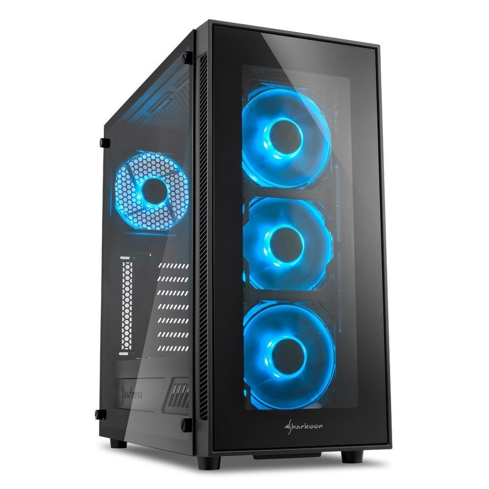 Sharkoon TG5 Blue ATX Mid Tower (Preto)