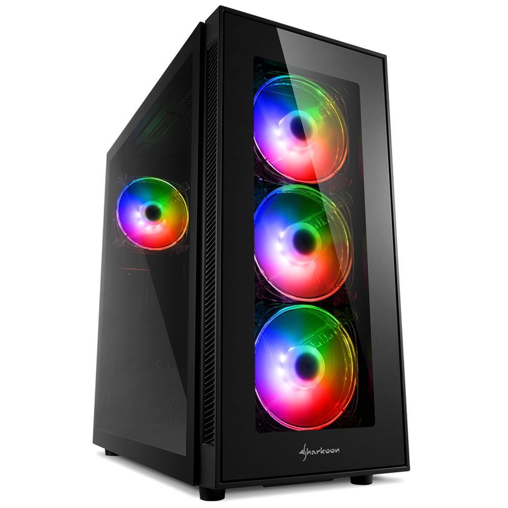 Sharkoon TG5 Pro RGB ATX Mid Tower (Preto)