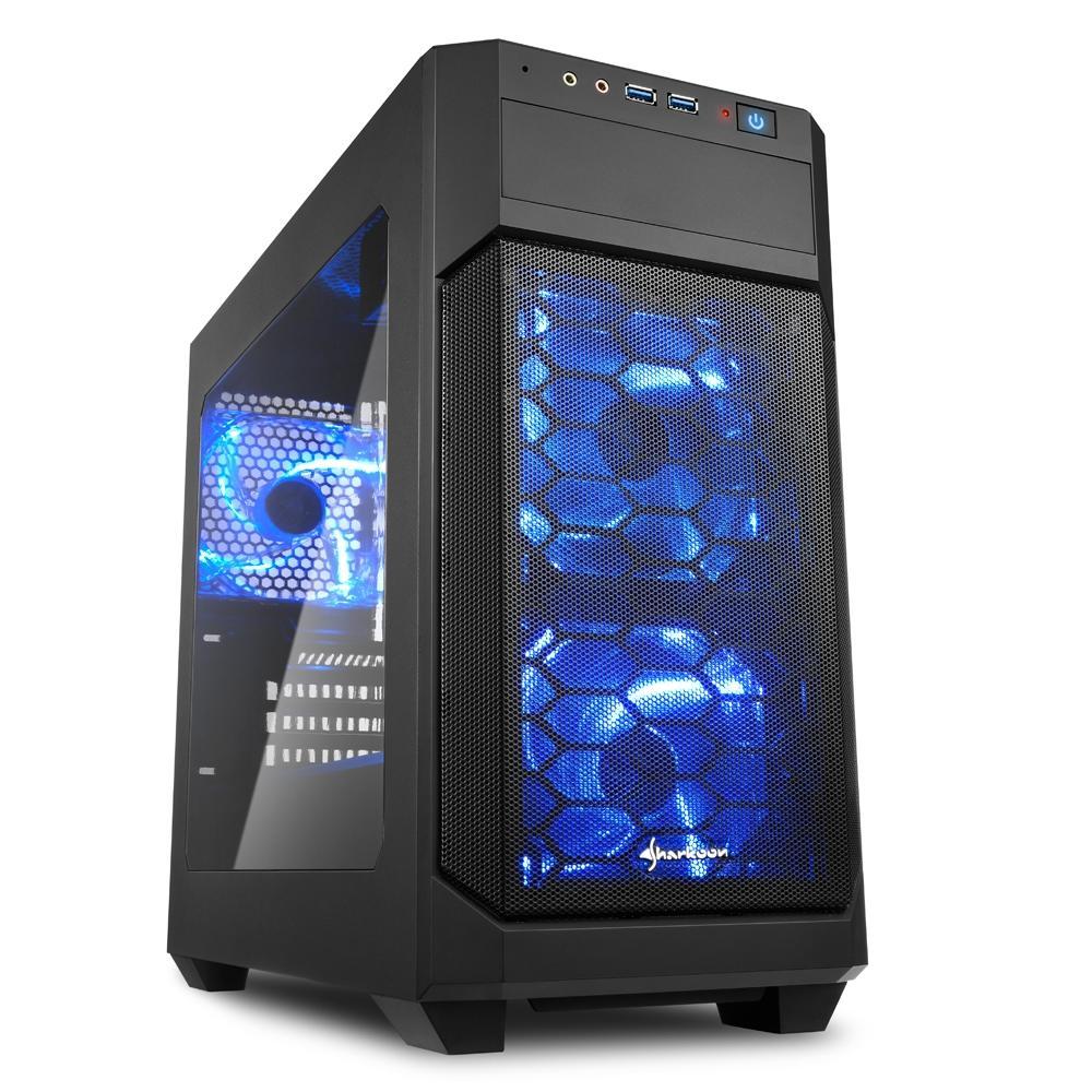 Sharkoon V1000 LED MicroATX Mid Tower (Preto)