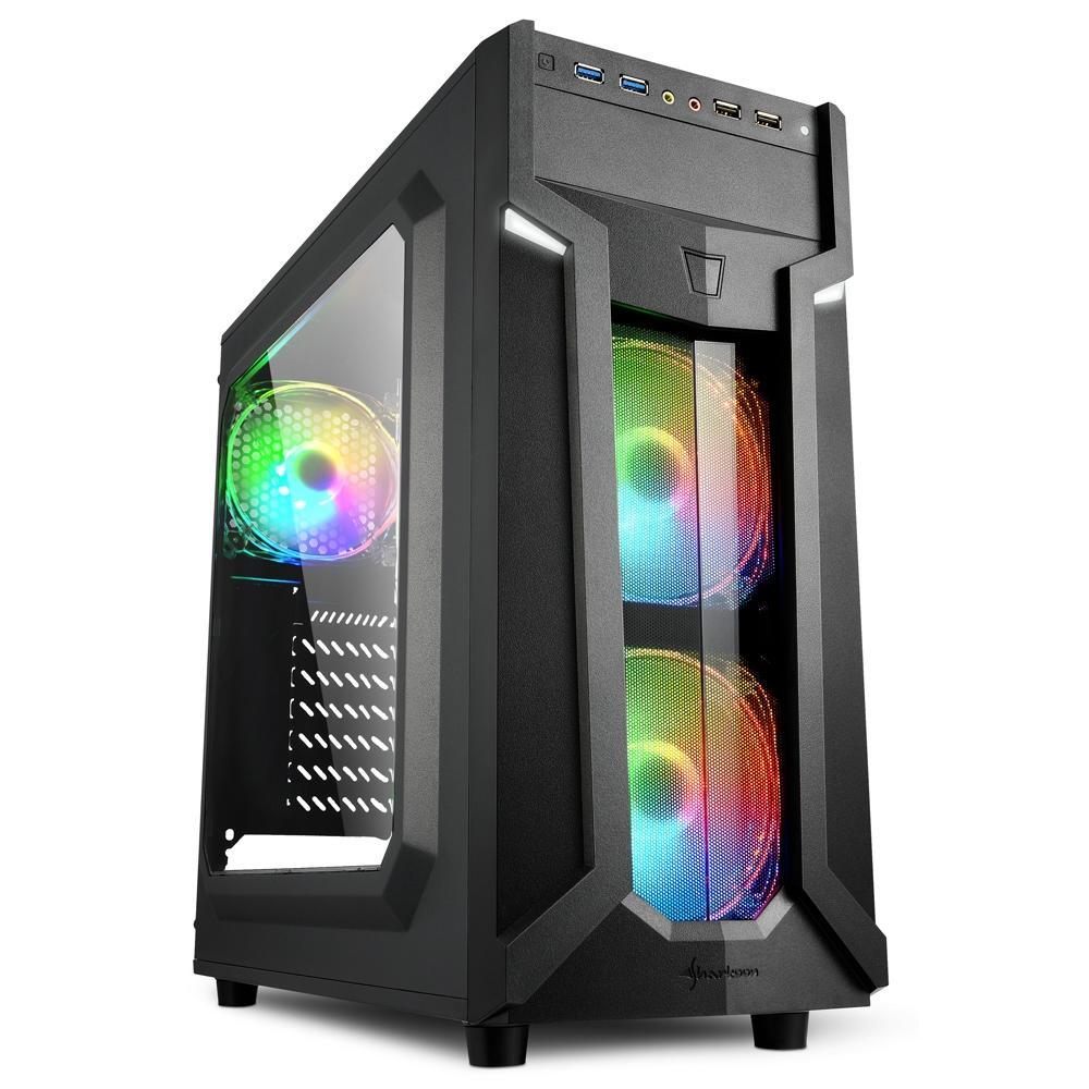 Sharkoon VG6-W RGB ATX Mid Tower (Preto)