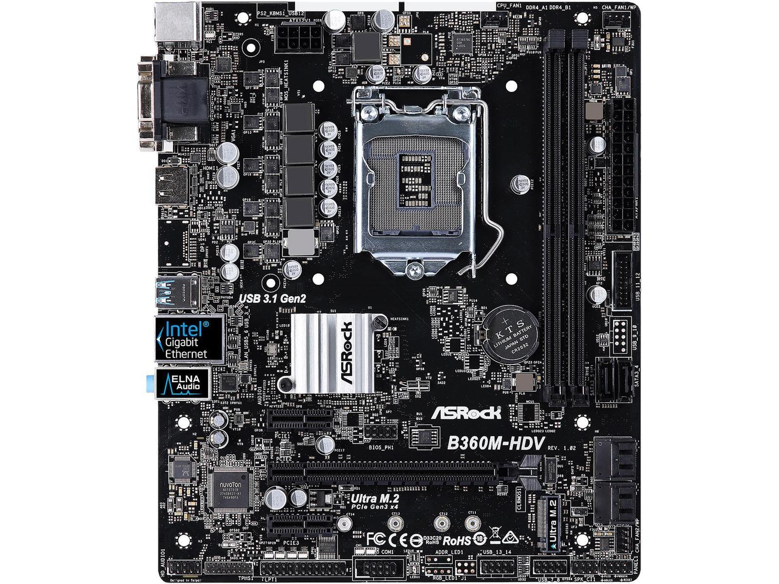 ASRock B360M-HDV Micro ATX LGA 1151