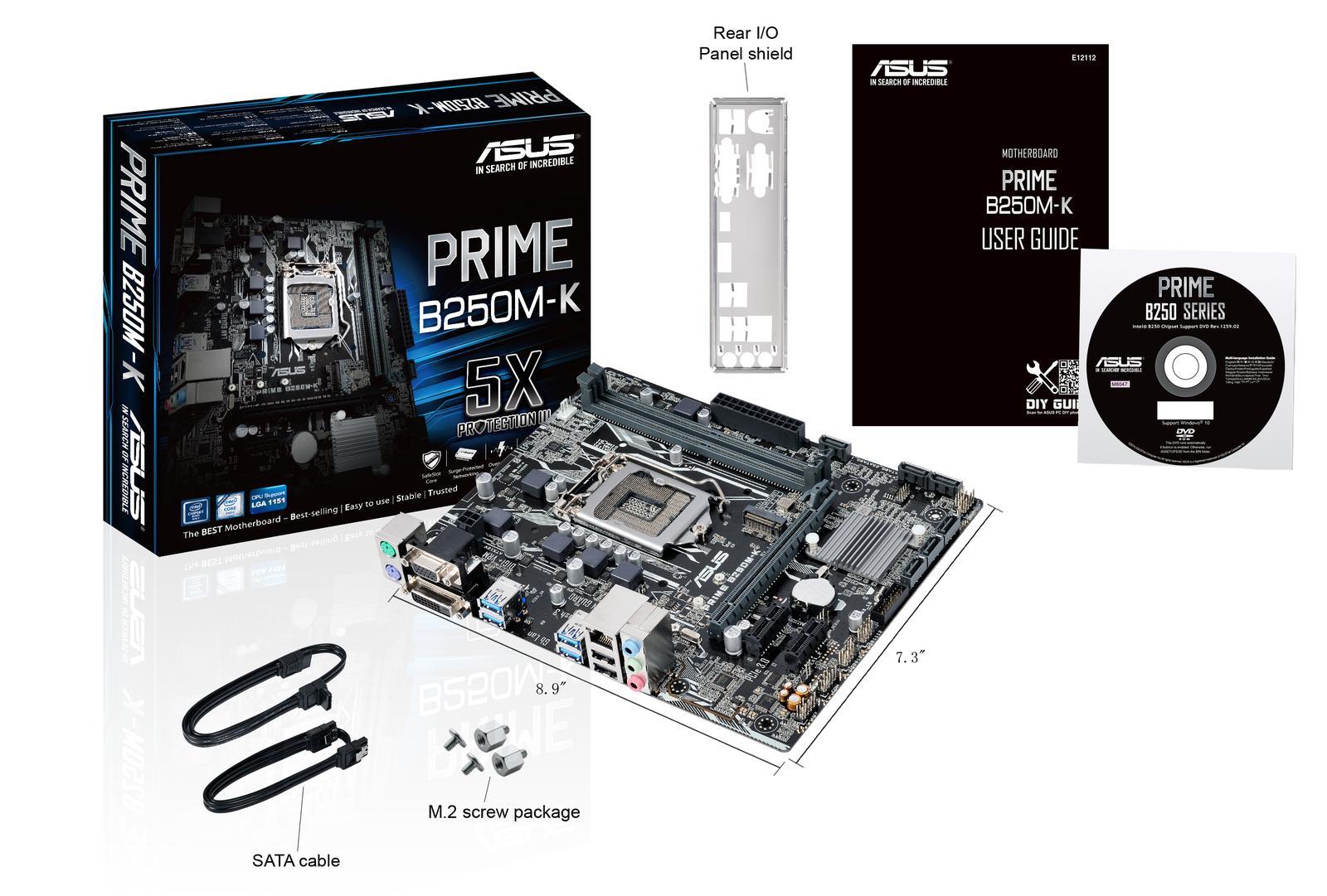 Asus PRIME B250M-K Micro ATX LGA 1151