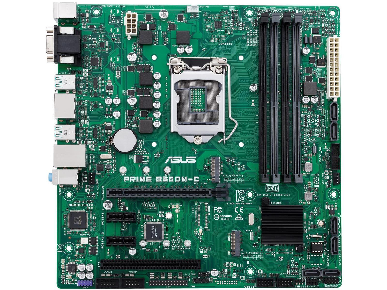 Asus PRIME B360M-C Micro ATX LGA 1151