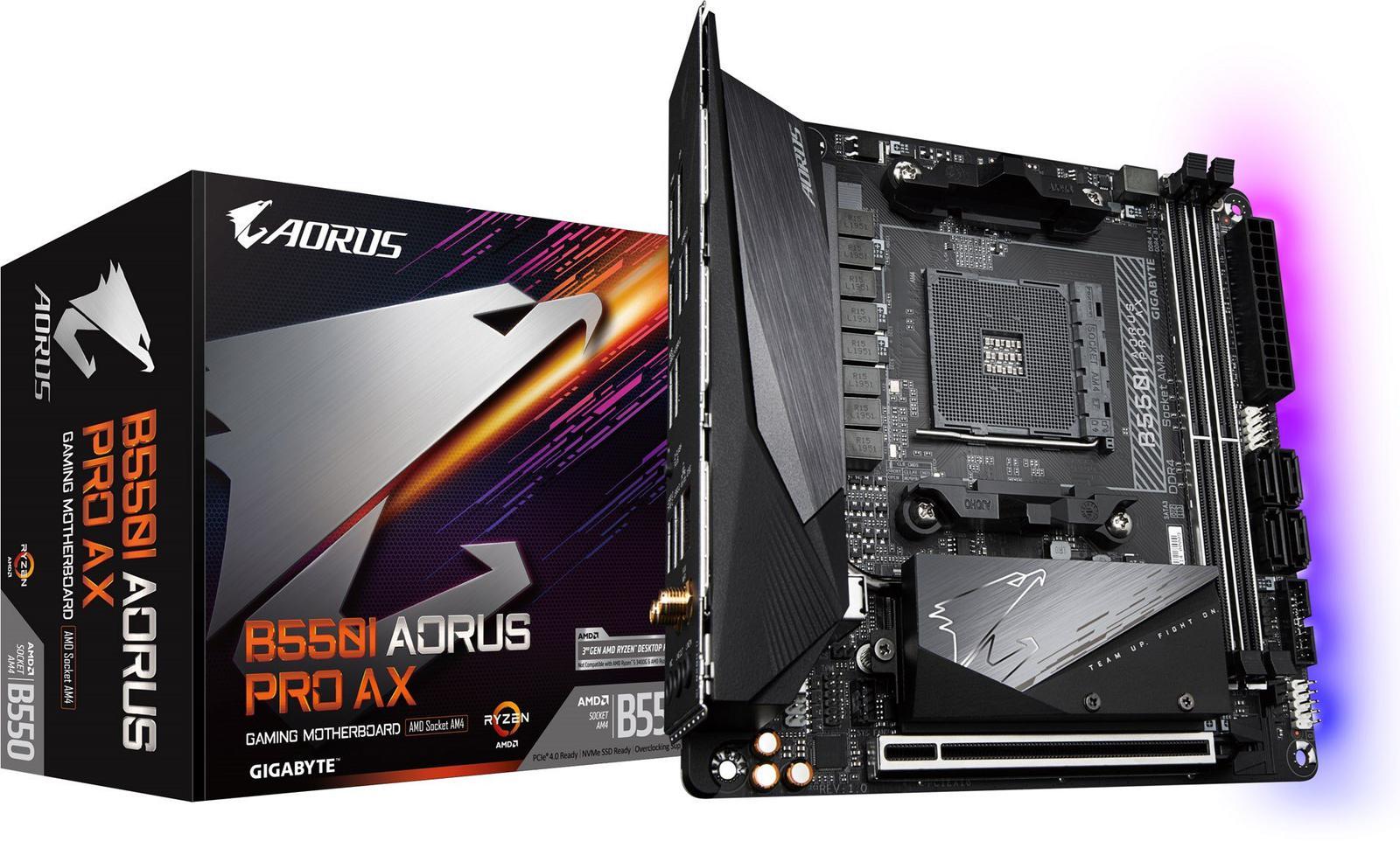 Gigabyte B550I AORUS PRO AX Mini ITX AM4