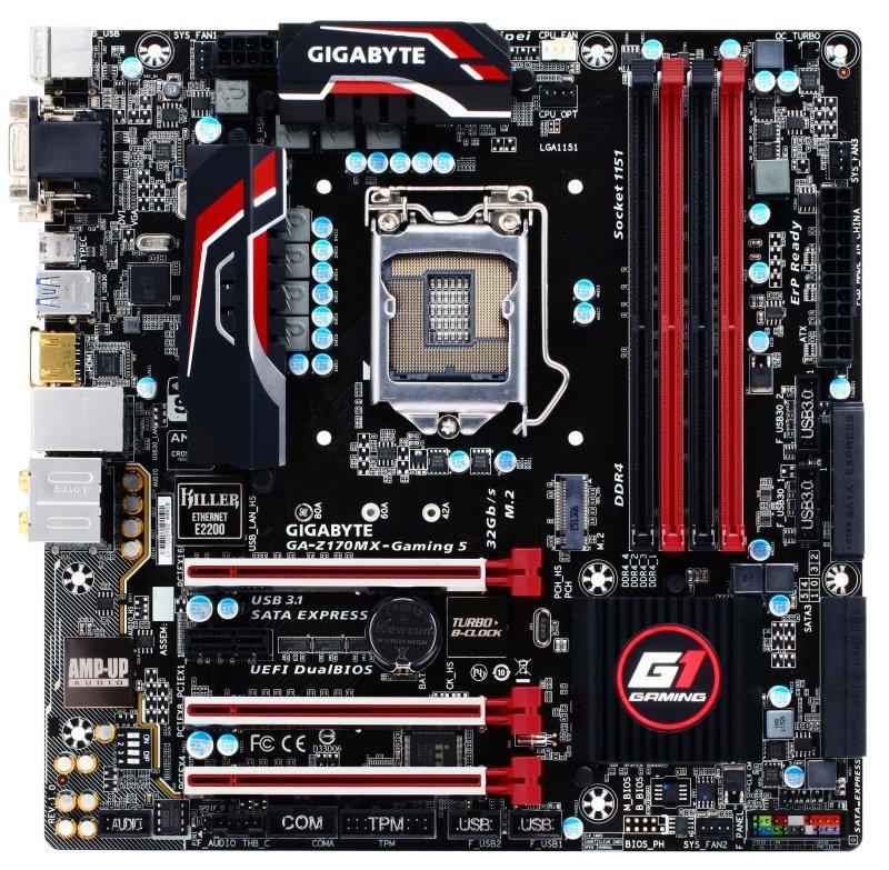 Gigabyte GA-Z170MX-Gaming 5 Micro ATX LGA 1151
