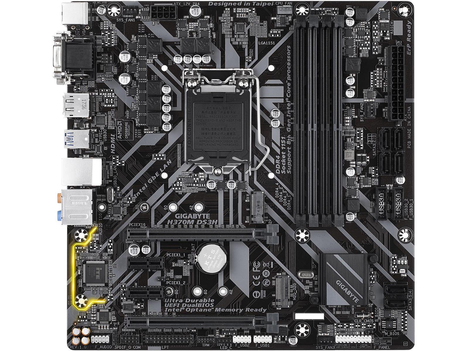 Gigabyte H370M DS3H Micro ATX LGA 1151