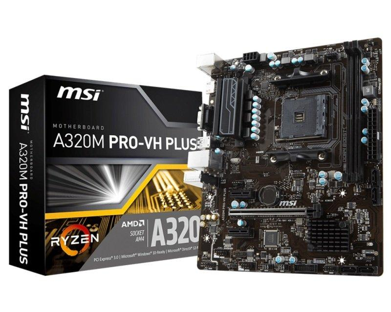 MSI A320M PRO-VH PLUS Micro ATX AM4