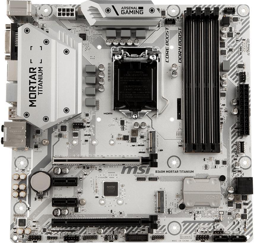 MSI B360M MORTAR TITANIUM Micro ATX LGA 1151
