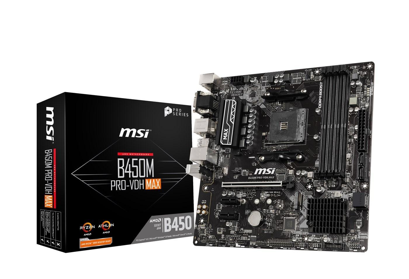 MSI B450M PRO-VDH Micro ATX AM4
