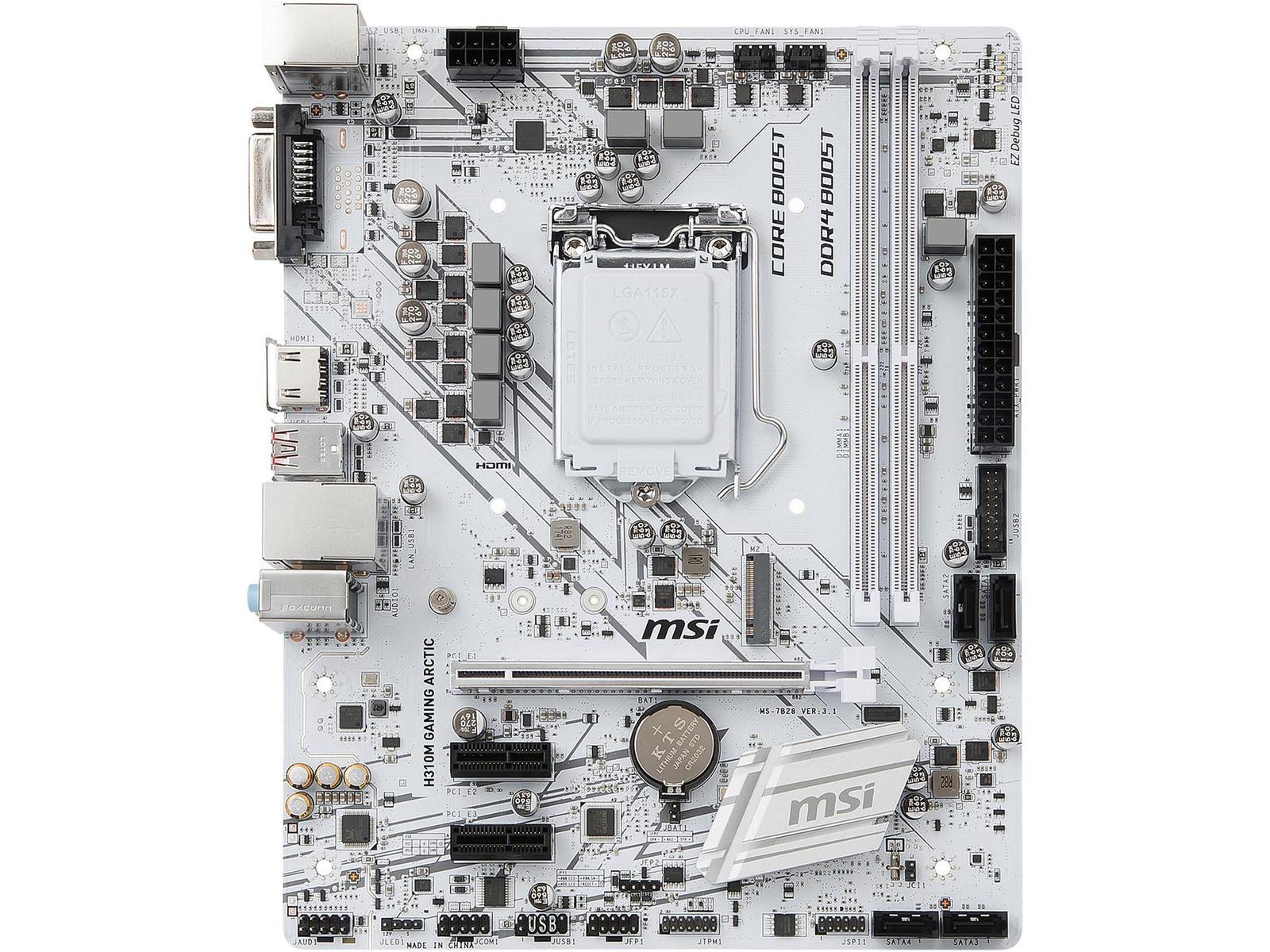 MSI H310M GAMING ARCTIC Micro ATX LGA 1151