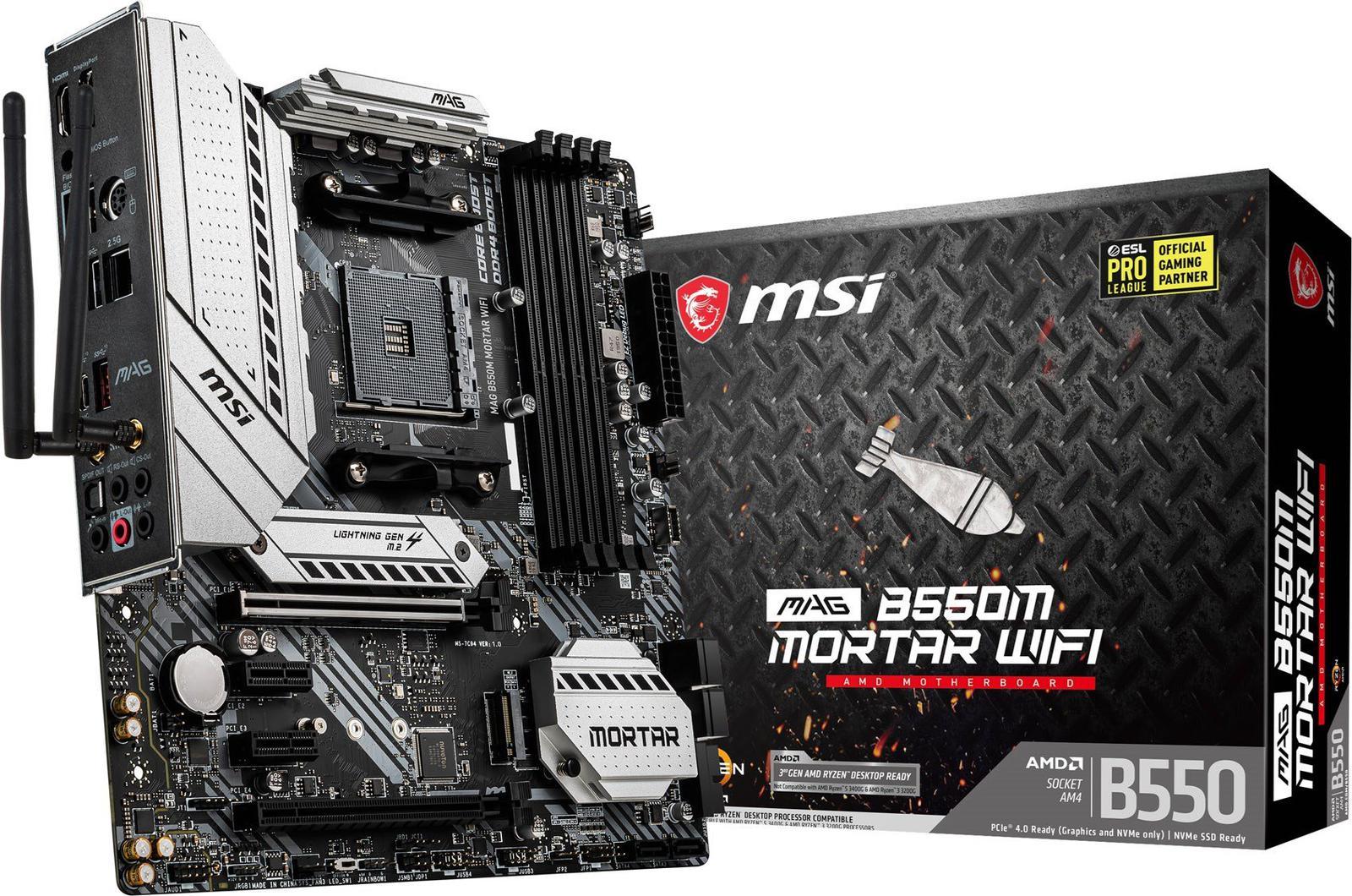 MSI MAG B550M Mortar WiFi Micro ATX AM4