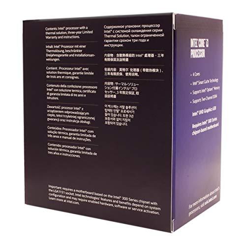 Intel Core i3-8100 3.6 GHz Quad-Core