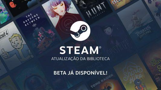 Nova Steam Library lança hoje: confira mudanças